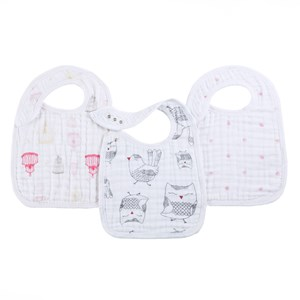 Image of Aden + Anais 3 Pack of Classic Lovebird Snap Bibs (3023203113)
