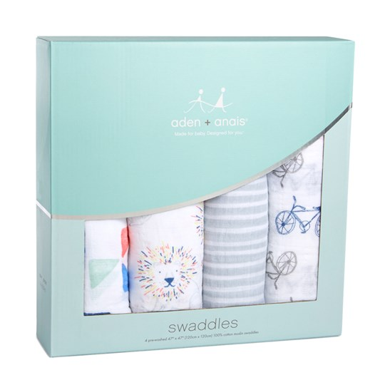 Aden + Anais 4 Pack Leader The Pack Classic Swaddles White