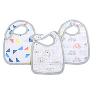 Image of Aden + Anais 3 Pack Classic Leader Of The Pack Snap Bibs (3023203037)