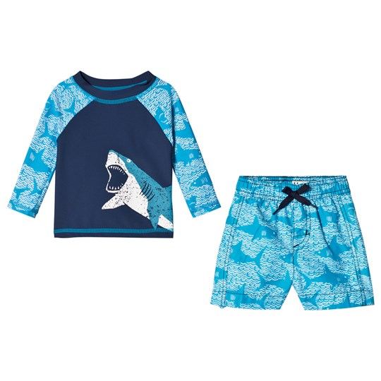 Hatley Shark Alley 2-Piece Set Blue Blue
