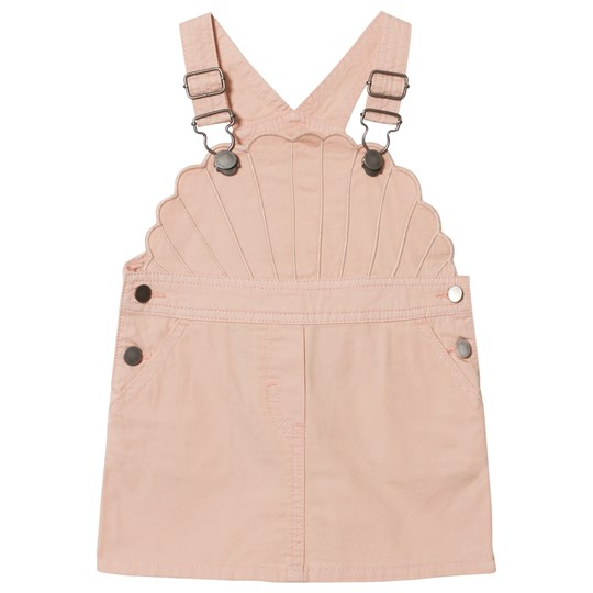 Stella McCartney Kids Pink Shell Embroidered Overall Dress 5768