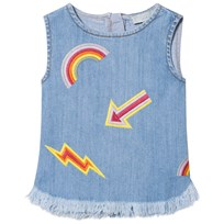 Stella McCartney Kids Light Wash Arrow Embroidered Violetta Sleeveless Top 4160