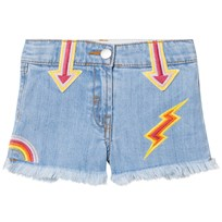 Stella McCartney Kids Blue Arrows Embroidered Marlin Shorts 4160