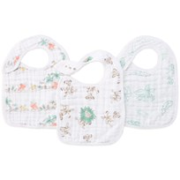 Aden + Anais 3-Pack Classic Snack Bibs Lion King White