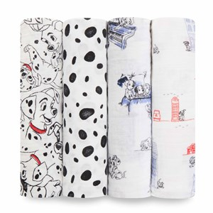Image of Aden + Anais Classic Swaddle 4-Pack 101 Dalmatians (3125289983)