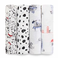 Aden + Anais -Pack Classic Swaddle Med 101 Dalmatiner White/Black