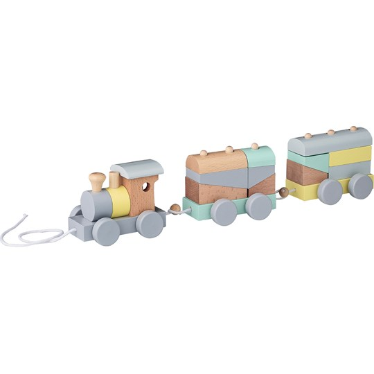 Bloomingville Multicolor Train Pull-Along Toy пестрый