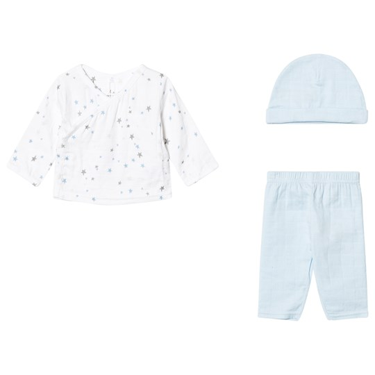 Aden + Anais Newborn Set Night Sky Starburst White/Pale Blue