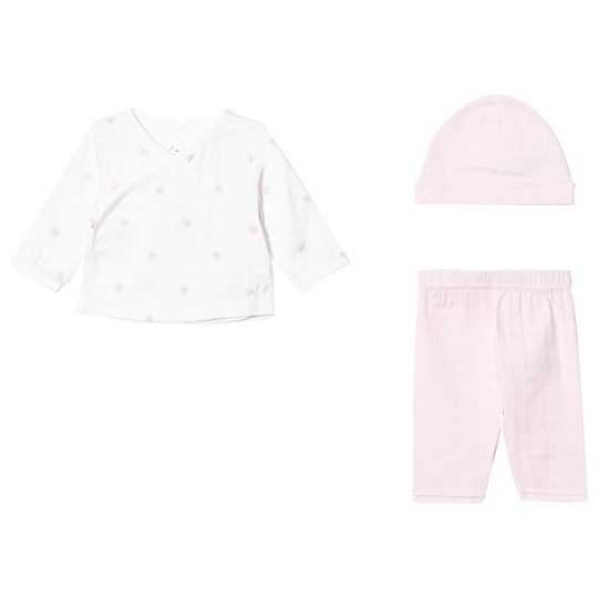 Aden + Anais Newborn Set Rose Water Dot Pink/White