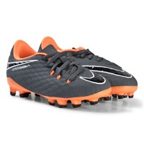 NIKE Dark Grey and Orange Hypervenom Phantom Firm Ground Football Boots 081