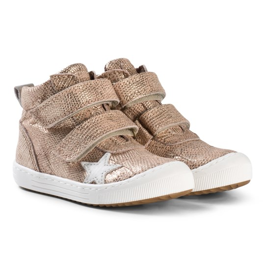 Bisgaard Velcro shoes Gold Gold