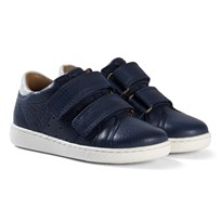 Bisgaard Velcro shoes Navy Navy