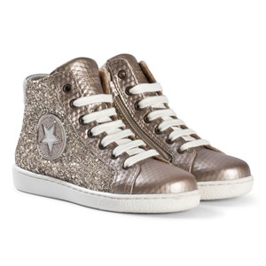 Image of Bisgaard Shoe with Laces Gold-Glitter 31 EU (3066369295)