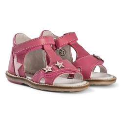 Noël Pink Star and Diamante Mini Stebi Velcro Sandals