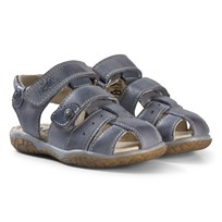 Noël Slate Grey Leather Closed Toe Tylero Sandals 043