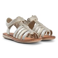 Noël Gold Metallic Strappy Leather Sydni Sandals 119