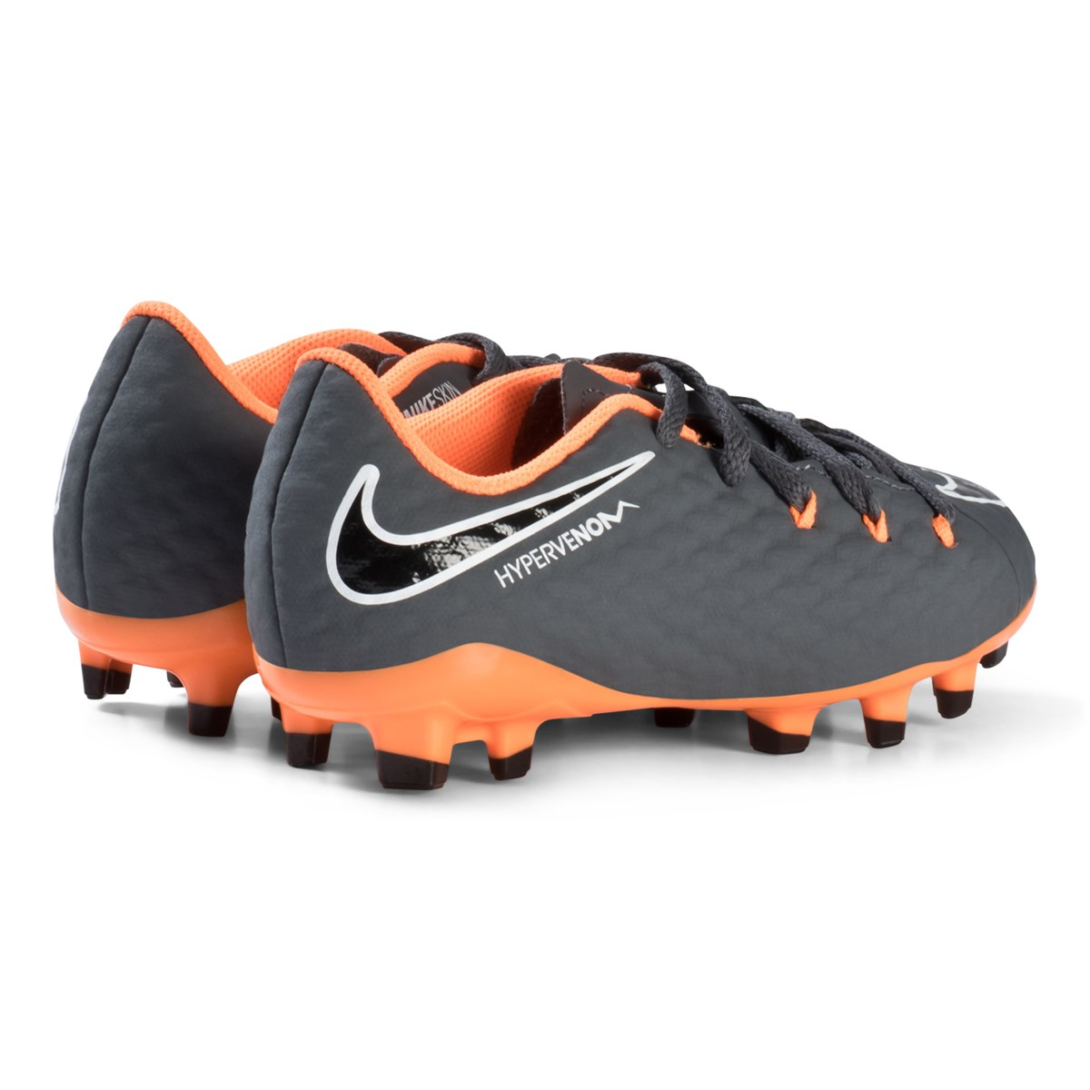 sale retailer 686a9 2917f Dark Grey and Orange Hypervenom Phantom Firm Ground Fotbollsskor - NIKE -  Babyshop