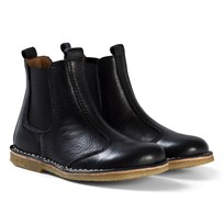 Bisgaard Leather Boots Black Black