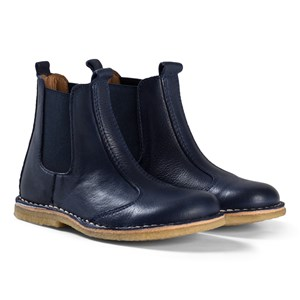 Image of Bisgaard Leather Boots Navy 32 EU (3065508435)