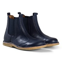 Bisgaard Leather Boots Navy Navy