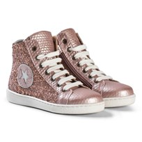 Bisgaard Shoe with laces Rose-glitter Rose-glitter