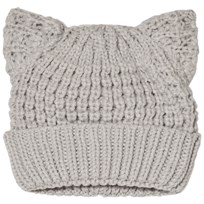 United Colors of Benetton Knit Beanier Hat With Ears Light Grey Light Grey