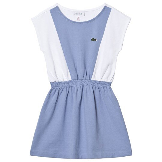 Lacoste Blue and White Sleeveless Dress Flottille/White