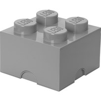 LEGO Inredning LEGO, Förvaring 4, Design Collection, Stone Grey Grey