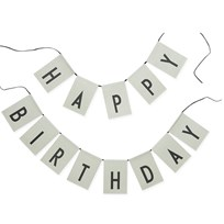 Design Letters Happy Birthday flags Green