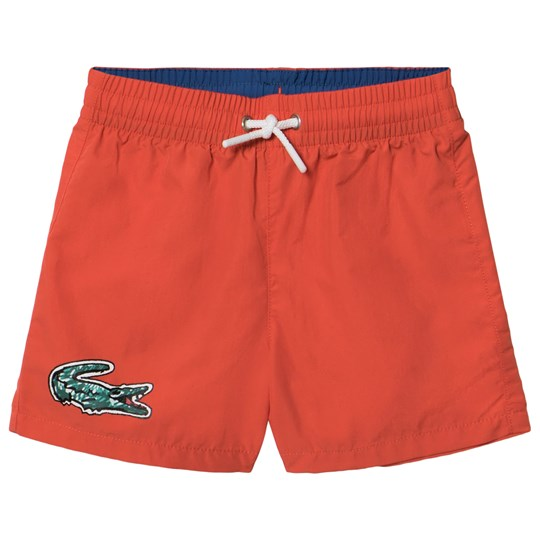 Lacoste Red Branded Swimshorts Green