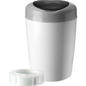 Image of Tommee Tippee Simplee Sangenic Diaper Disposal Grey/White (3056877761)