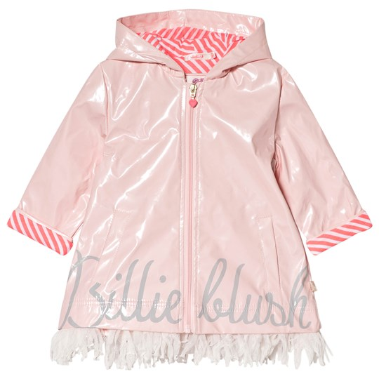 Billieblush Pale Pink Branded Raincoat with Tulle Fringing 45W