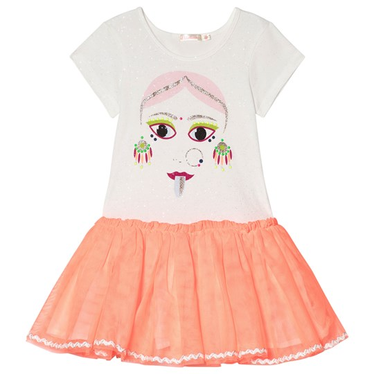 Billieblush Ivory Face Print Tutu Dress N24