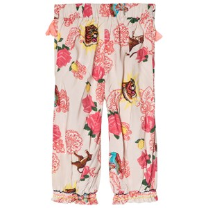Image of Billieblush White and Pink Bollywood Print Wide Leg Trousers 2 years (2946989791)