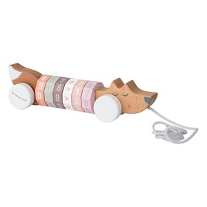 Image of Bloomingville Calculating Fox Pull-Along Toy Pink (3007398647)