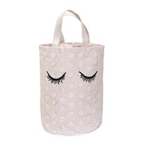 Bloomingville Storage Bag, White, Cotton Black