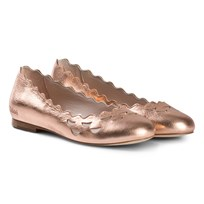 Chloé Pink Iridescent Leather Ballerinas 45N