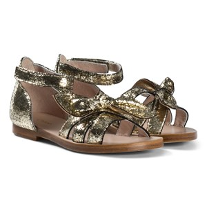 Image of Chloé Gold Wide Bow Sandals 33 (UK 1) (2946986595)