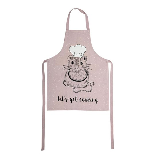 Bloomingville Pink Mouse Apron Multi