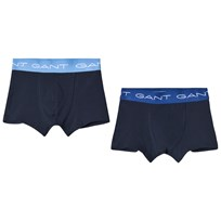 Gant 2 Pack of Navy and Blue Branded Boxers 405