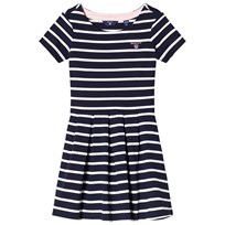 Gant Navy and White Stripe Jersey Dress 433
