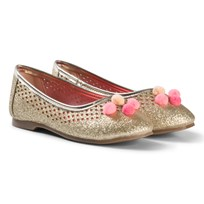 Billieblush Gold Pom Pom Pumps Z98
