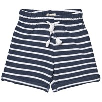 Hatley Navy Stripe Pull On Shorts Navy