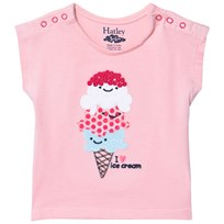 Hatley Ice Cream Love Snap T-shirt Rosa Pink