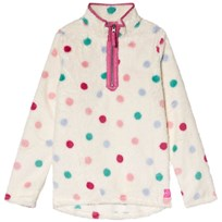 Tom Joule Cream and Multi Coloured Spot 1/2 Zip Fleece MULTI SPOT