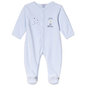 Image of Absorba Pale Blue Lion Print Velour Footed Baby Body 6 months (2946988363)