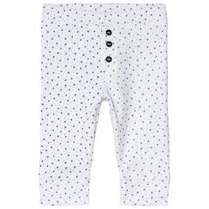 Image of Absorba White Star Print Soft Jersey Trousers 12 months (2946989923)