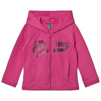 United Colors of Benetton Sweat Zip Hoodie With Sequins Pink Pink