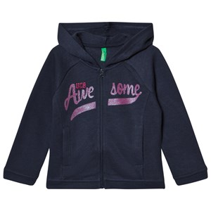 Image of United Colors of Benetton Sweat Zip Hoodie With Sequins Navy 8-9 år (2946989541)