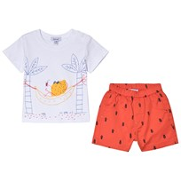 Absorba White Fruit Holiday Print Tee and Shorts Set 76